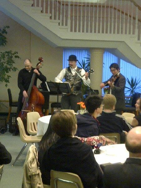 Entertaining at the Taylor Seminary Graduation Dinner (Edmonton)